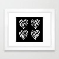 Hearts Heart x2 Black Framed Art Print