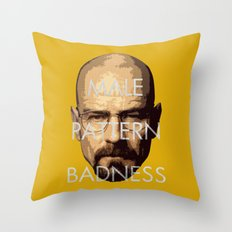 Male Pattern Badness Throw Pillow