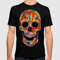 Chromatic Skull Mens Fitted Tee Black SMALL