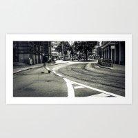 crossing the lines Art Print