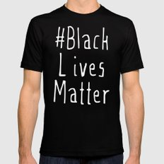 #Black Lives Matter Black Mens Fitted Tee SMALL
