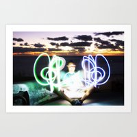 Sunset on Light Art Print