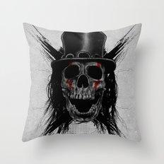 Skull Hat Throw Pillow