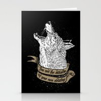Wolf Protector (Black n Bronze collection) Stationery Cards
