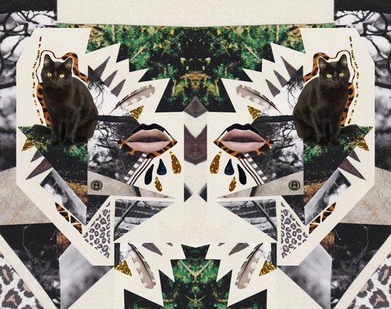 AYAHUASCA CAT (Kaleidoscope)  Art Print