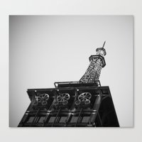 Eiffel Tower At American… Canvas Print