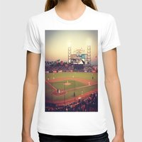 at&t park Womens Fitted Tee White SMALL