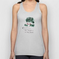My head is in the forests Unisex Tank Top