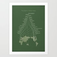 Trembling Giants (The Earth's Oldest Trees Infographic) Art Print