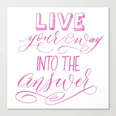 Rilke Quote in Pink Canvas Print