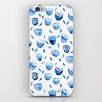 Blue Blossoms iPhone & iPod Skin