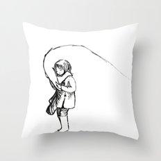 Befriending your bird Throw Pillow