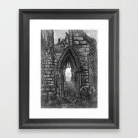 Tumbledown Abbey Framed Art Print