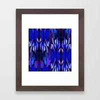 Indigo Fever Framed Art Print
