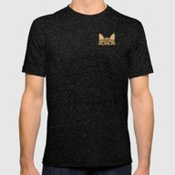 Pocket Tabby Cat Mens Fitted Tee Tri-Black MEDIUM