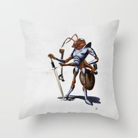 Soldiering On (wordless) Throw Pillow