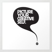 Picture Your Creative Self Art Print