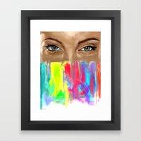 Angel Eyes Framed Art Print