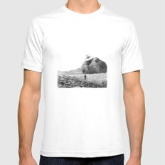 Mullach Cola White SMALL Mens Fitted Tee