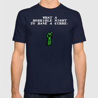 Simon's Quest Tribute Mens Fitted Tee Navy SMALL