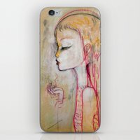 Tornado Lady iPhone & iPod Skin