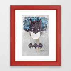 Bat grunge superhero Framed Art Print