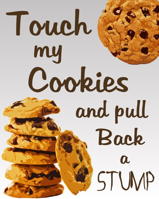 """No Touchy"" - Cookie, Cookies, Ombre, Grey, Shades of Grey, Duhlicious Art Print"