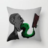 H.P.L. Throw Pillow