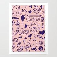 Call Me! Art Print