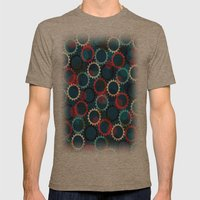 Flores de luna Mens Fitted Tee Tri-Coffee SMALL