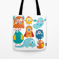 Aliens and monsters pattern Tote Bag