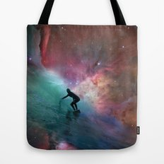 Nebulous Surfing Tote Bag