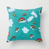 Rainbows #2 Throw Pillow