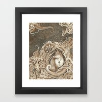 The Fox and the Sea Framed Art Print