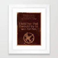 The Hunger Games Framed Art Print
