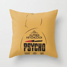 Psycho - Alfred Hitchcock Movie Poster Throw Pillow
