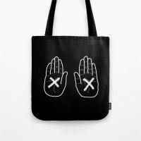Hands Black Tote Bag