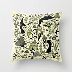 Verdant Graveyard Throw Pillow