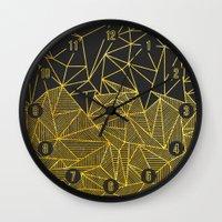 Bullion Rays (gold) Wall Clock
