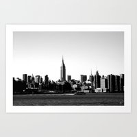 Empire State Building Skyline, New York City Art Print