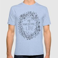 Awesome Life Mens Fitted Tee Athletic Blue SMALL