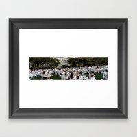 Diner En Blanc Framed Art Print