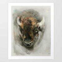 Plains Bison Art Print