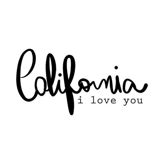 California i love you  Canvas Print
