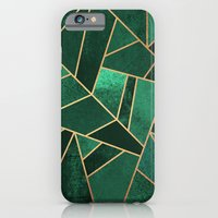 iPhone Cases featuring Emerald and Copper by Elisabeth Fredriksson