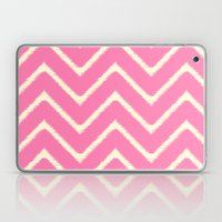Pink Ikat Chevron Laptop & iPad Skin