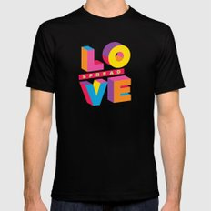 Spread Love Black Mens Fitted Tee SMALL