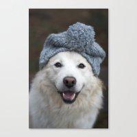 Happy Snowpaw - Dog Canvas Print