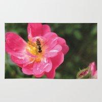 Flower Bee Rug
