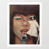 The (Make Up) Artist  Art Print